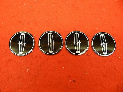 "4 NEW 60's 70's Lincoln Town Car 1.9"" Wheelcover Spinner Center Decal Applique"