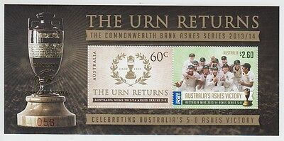 The Urn Returns Miniature Sheet - O/p Canberra Stampshow 2014 (Jd5178)