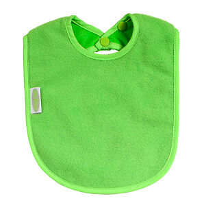 Silly Billyz Bib - Baby Feeding Accessory - Plain Design - Lime Green - Large