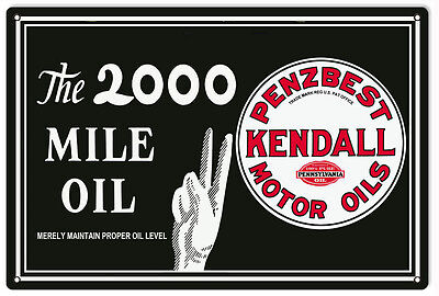 Reproduction Penz Best Kendall Motor Oil Gas Station Metal Sign