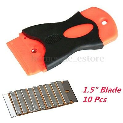 "10 Single Edge 1.5"" Razor Blade Remover Razor Set Window Scraper Spatula Tools"