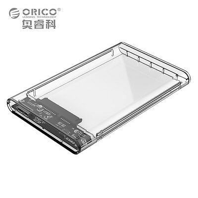 """Orico 2.5"""" Transparent 5Gbps USB3.0 to Sata3.0 HDD Case Hard Drive Enclosure"""