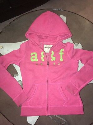 Girls Abercrombie & Fitch L Pink Sequined Hoodie Jacket