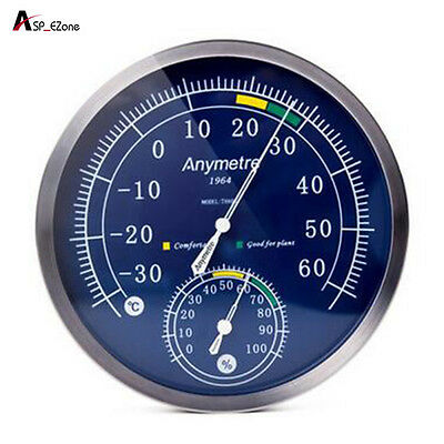 Stainless Steel Thermometer Hygrometer High Accuracy Indoor Outdoor Psychrometer