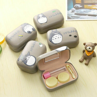 Totoro Contact Lens Box Case Holder PU Leather Anime My Neighbot Travel Kit Set