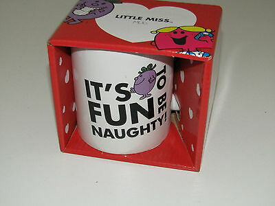 Roger Hargreaves Mr Men Little Miss Naughty (Fun to be) China Mug 10cm high