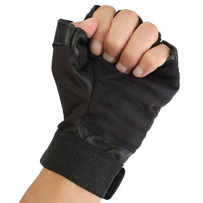 Men Weight Lifting Gym Exercise Training Sport Fitness Sports Leather Gloves