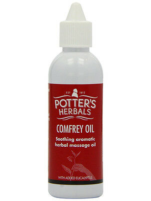 Potters Herbals Comfrey Oil Soothing Aromatic Massage Oil with Eucalyptus 75ml