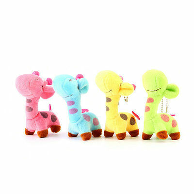 Lovely Cute Kids Child Giraffe Gift Soft Plush Toy Baby Stuffed Animal Doll C&