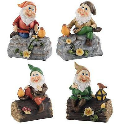Whistling Gnome Garden Resin Ornament Statue Decoration with Motion Sensor