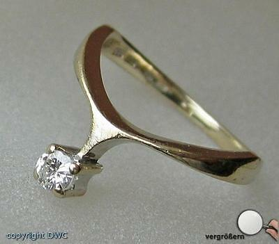 Damen Finger Ring mit Brillant Brillanten Diamant Diamanten Solitär in aus Gold