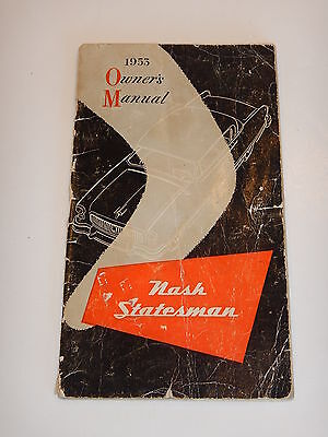ORIGINAL 1953 NASH AUTOMOBILE OWNER'S MANUAL- (lot 49)