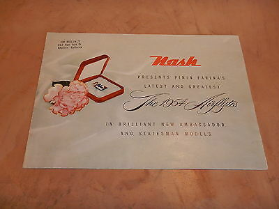 ORIGINAL 1954 NASH  AUTOMOBILE DEALER SALES BROCHURE (lot 139)