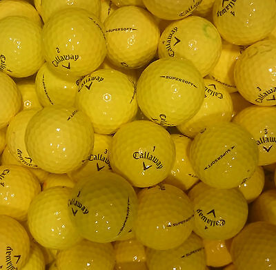 Callaway Yellow Supersoft Optic Golf Balls - Pearl / A Grade Super Soft Coloured