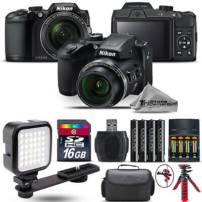 Nikon COOLPIX B500 Digital Camera 40x Optical Zoom + LED + Case -16GB Kit Bundle