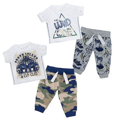 Babytown Baby Boys Safari Themed T Shirt Top & Jog Pants Set
