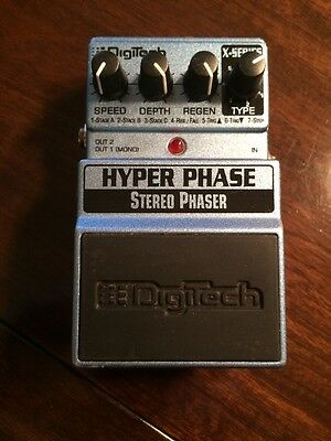 DigiTech Hyper Phase Stereo Phaser Guitar Effects Pedal