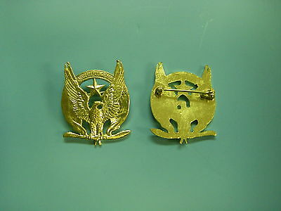 0117  WW 1 US French Lafayette Escadrille Badge GD9