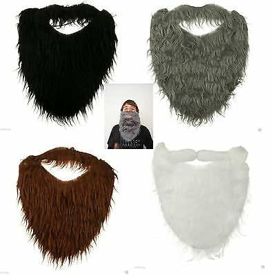 Fake Beard Hair Strap On Accessory Costume Adult Child Pirate Santa Claus Gnome