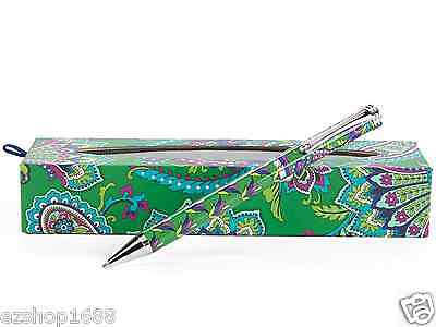 NWT Vera Bradley Ball Point Pen in Emerald Paisley with box gift 11002 169 EZ