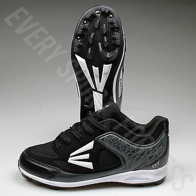 Easton 360 Youth/Junior Baseball Cleats - Black/Charcoal (NEW)