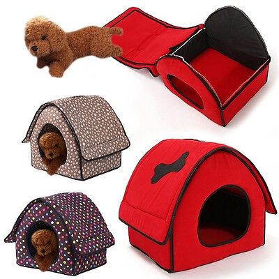 New Pets House Household Small Dog Cat Kennel Cave Bed Puppy Kitten Sleeping Hut