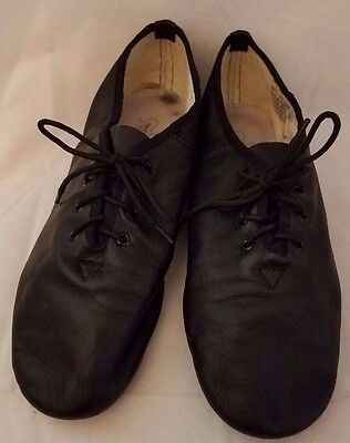 Revolution Dancewear Black Leather Jazz Dance Shoes Adult Size 10 10M