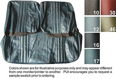 1968 Chevrolet Chevy II / Nova Standard Front Bench & Rear Seat Covers - PUI