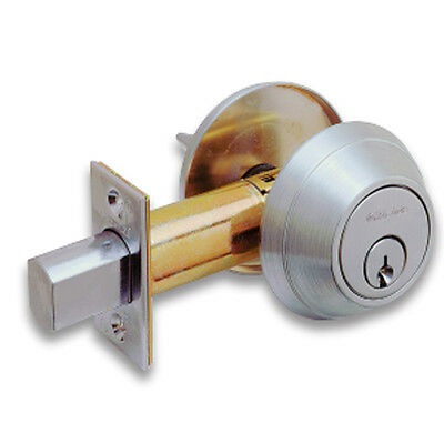 SCHLAGE B660P6 KD Standard 6-Pin Cylinder Commercial Deadbolt Satin Chrome