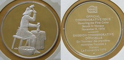 1976 Monaco's 1st Coin Silver Proof Medal