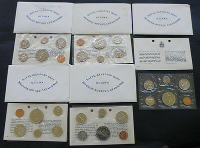 C-USA FIVE 1972 Canada Uncirculated Prooflike Coin Mint Sets