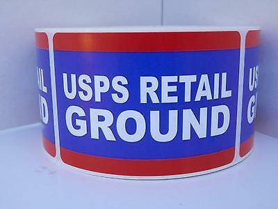 USPS RETAIL GROUND 2x3 Stickers Labels Mailing Shipping 250/rl