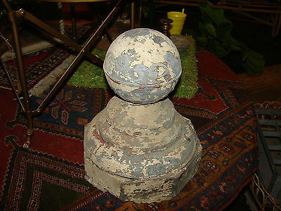 Vintage handmade architectural finial of tin for exterior adornment