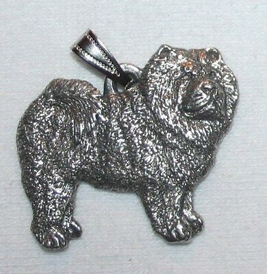 CHOW Dog Harris Fine Pewter Pendant USA Made