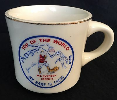 "Cool Vintage Mug - Boy Scouts MT EVEREST ""Top Of The World"""
