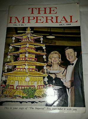 The Imperial 1964 Japanese Hotel Advertisement Booklet w/Plane Ads