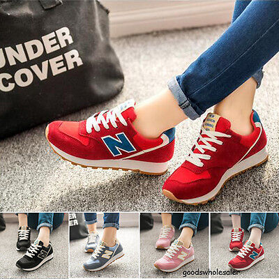 2017 new GIRLS WOMEN RUNNING LIGHTWEIGHT CASUAL SPORTS LEATHER TRAINERS SHOES