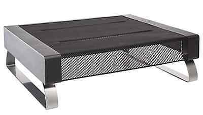 Rolodex® Mesh Workspace Monitor Stand, Black/Silver