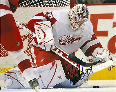 Detroit Red Wings Ty Conklin Signed Autographed 8x10 COA