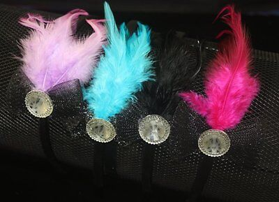97F Ej288 Wholesale Lots 24 Pieces Feather Head Band Hair Jewelry Lhf131211