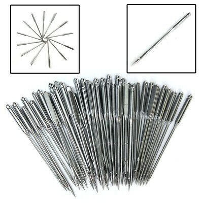 50Pcs Assorted Domestic Sewing Machine Needles For Brother Janome Singer Elna