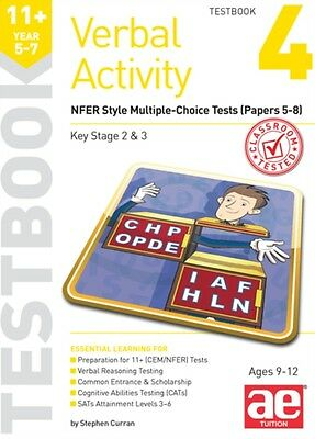 11+ Verbal Activity Year 5-7 Testbook 4: Gl Assessment Style Multiple-Choice Te.