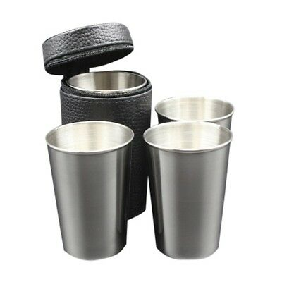 4PCS 70ML/180ML Cups Stainless Steel Outdoor Travel Cups Wine Beer Whiskey Mugs