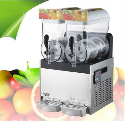 Commercial Frozen Drink Slush Slushy Make Machine Smoothie Maker 2 Tank Ice