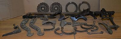 Planet Jr & other walk behind garden cultivator antique collectible parts lot