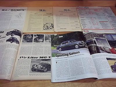 MG Magnette Magazine/Literature lot of 6 items