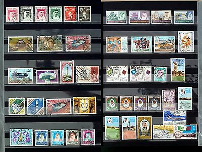Qatar 1961-1974  Good Range Of 46 Postally Used Stamps