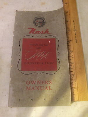 Antique Vintage 1950 Nash Owner's Manual Car Auto