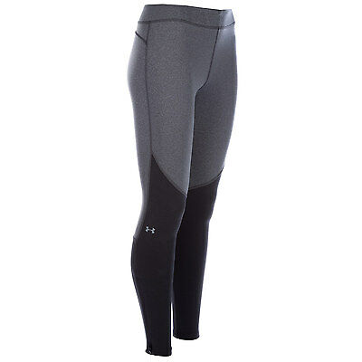 Womens Under Armour Womens ColdGear Elements Leggings in Grey - 12-14