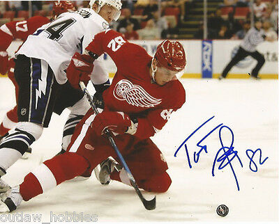 Detroit Red Wings Tomas Kopecky Signed Autographed 8x10 COA A